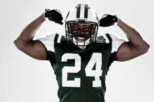D. Revis, if he continues his hold-out, will have plenty of more time for photo shoots (Getty).
