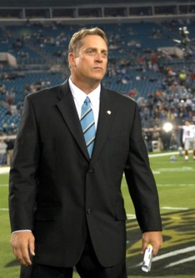 We can only hope that Nike can design a suit as well as Reebok did for Jack Del Rio (Getty).