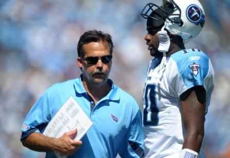 Jeff Fisher and V. Young aren't exactly getting along these days (US Presswire).