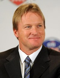 Jon Gruden might have expressed interested in the University of Miami job (US Presswire).
