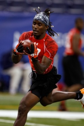 M. Gilyard at the NFL combine (Getty)