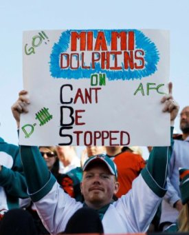Miami, despite what the sign says, has been delightfully average this season (US Presswire).