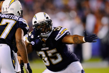 M. Tolbert had a big game for San Diego as it defeated Denver 35-14 (Getty).