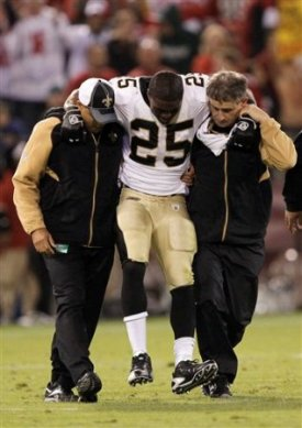 R. Bush is expected to be out 4-6 weeks after breaking his leg in Monday night's game (AP).
