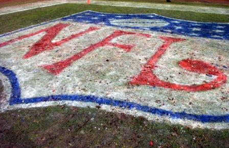 The Soldier Field turf after the 2007 NFC championship game (Getty).
