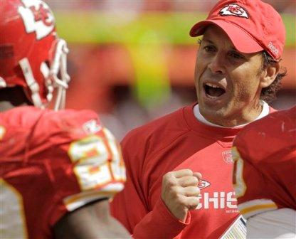 Todd Haley has helped lead his Kansas City squad to a 3-0 record (AP).