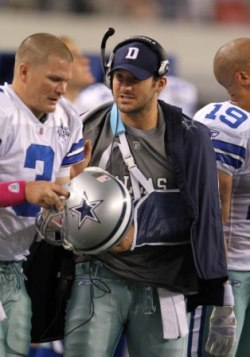 T. Romo will be out six to eight weeks with a broken clavicle (US Presswire).