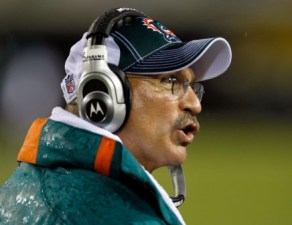 Miami coach Tony Sparano doesn't care what you think about QB C. Henne (Getty).