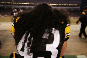 T. Polamalu has insured his hair for $1 million (Getty).