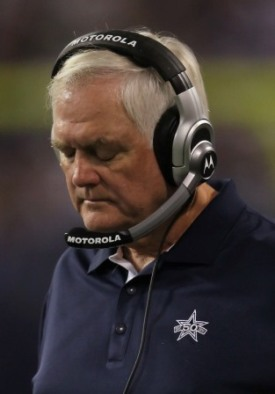 Dallas coach Wade Phillips will have some work to do in order to keep his job after this season (Getty)