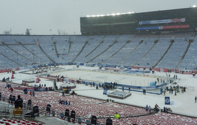 2014 winter classic michigan stadium ready as snow keeps for Big house blog