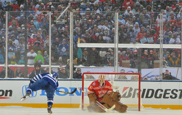 Bozak scores the winner in the shootout. (Getty Images)