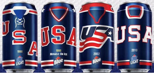 Labatt's has the American Olympic spirit. (@SbaickerCSN)
