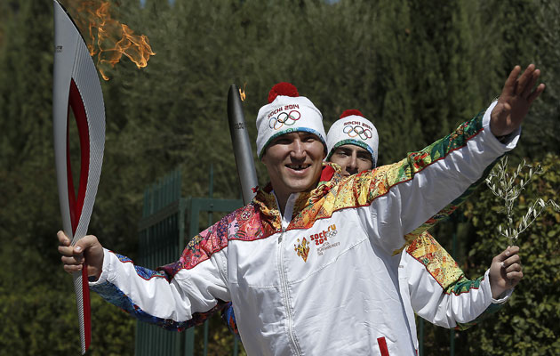 Ovechkin was the torch bearer in Greece, of course he makes the team. (Getty Images)