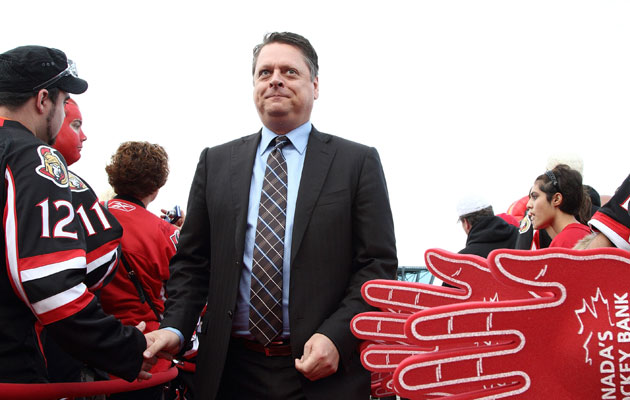 Tim Murray takes his first job as an NHL GM in Buffalo. (Getty Images)