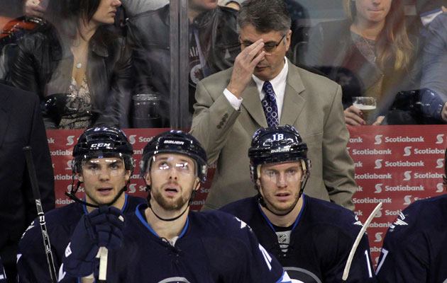 Winnipeg is in last place with 43 points in 47 games. (Getty Images)