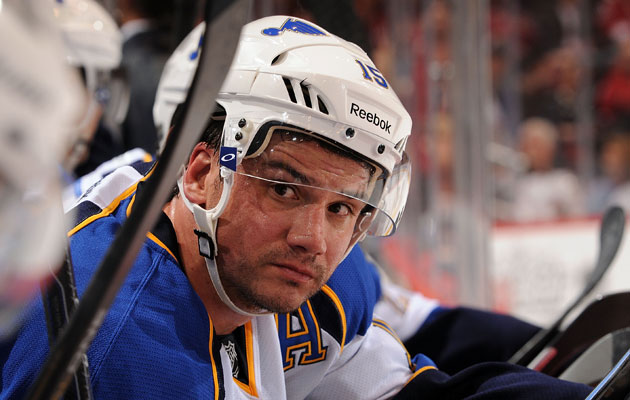 Langenbrunner finished out his career in St. Louis. (Getty Images)