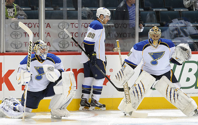 Halak and Elliott are back to sharing the St. Louis net. (Getty Images)