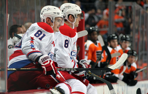 The Caps and Flyers are tied with 52 points, 18 behind first place. (Getty Images)