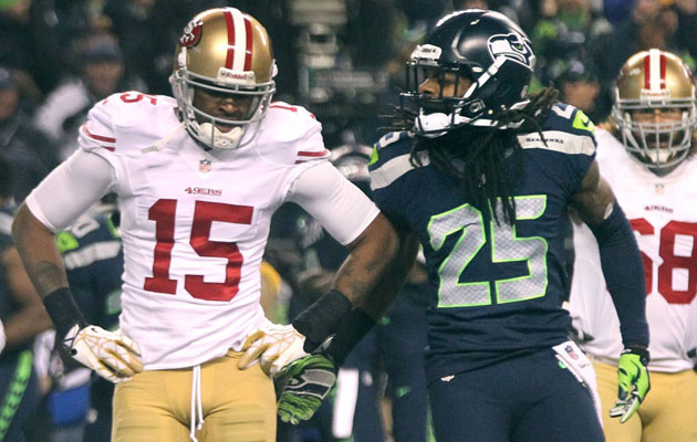 It wasn't just Sherman's interview but actions toward Crabtree that irked. (Getty Images)