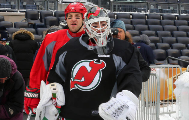 Brodeur will lead New Jersey onto the ice Sunday. (Getty Images)