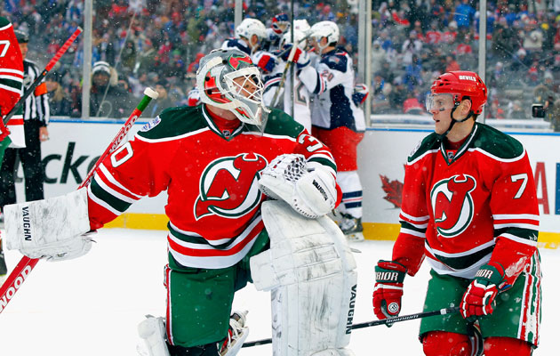 Brodeur had a rough day with six goals against on 21 shots. (Getty Images)