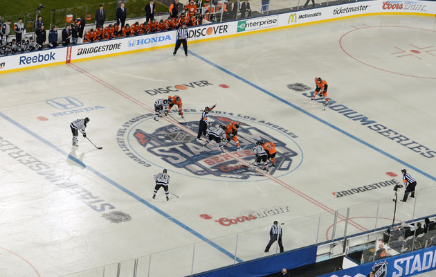 The Stadium Series set record ratings in LA. (Getty Images)