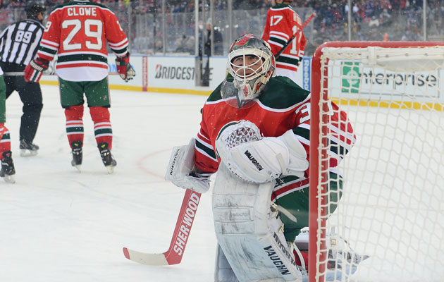 Brodeur was pulled after two periods on Sunday. (Getty Images)