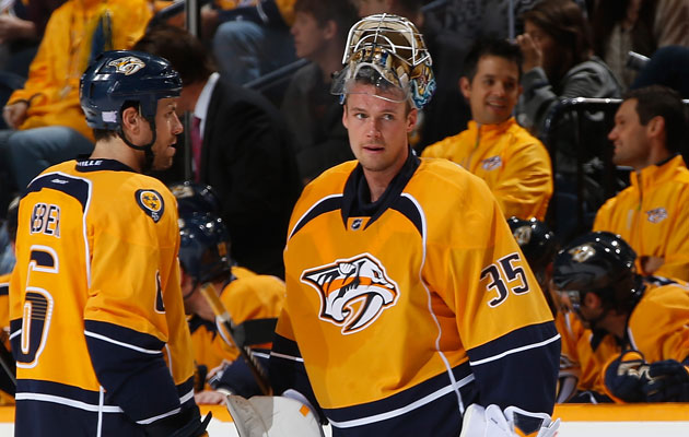 Pekka Rinne hasn't played since late October for Nashville. (Getty Images)