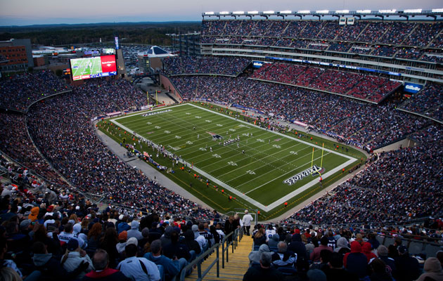 Gillette Stadium hosts the Patriots in Foxboro. (Getty Images)