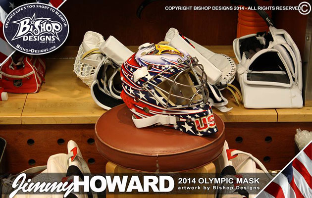 Howard's mask has its final look. (Bishop Designs)