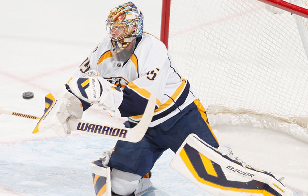 Rinne has been out of the lineup since late October. (Getty Images)