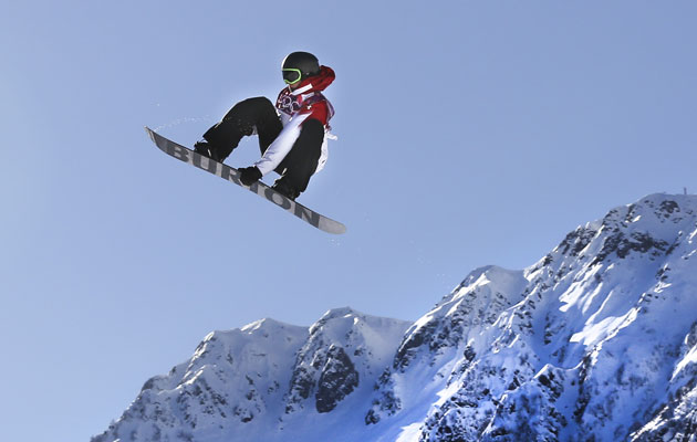 McMorris catches some big air on the slopestyle course. (Getty Images)
