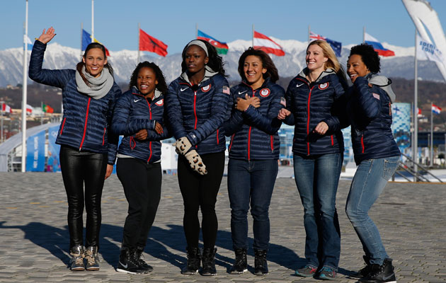 The ladies of the American bobsled teams. (Getty Images)