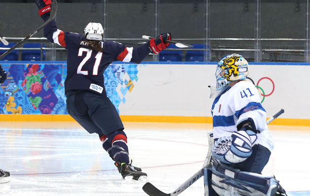 Knight celebrates her goal in the opening minute against Finland. (Getty Images)