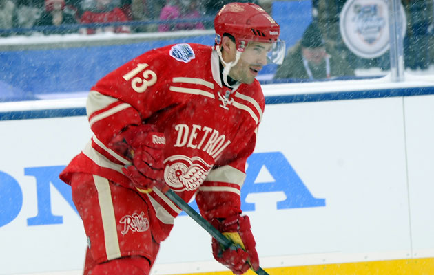 Datsyuk played less than 15 minutes in each of his first two games back. (Getty Images)