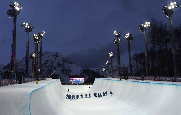 The halfpipe in Sochi is facing some criticism. (Getty Images)