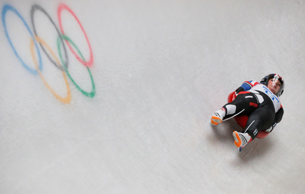 Hamlin goes for the first individual luge medal in US Olympic history. (Getty Images)