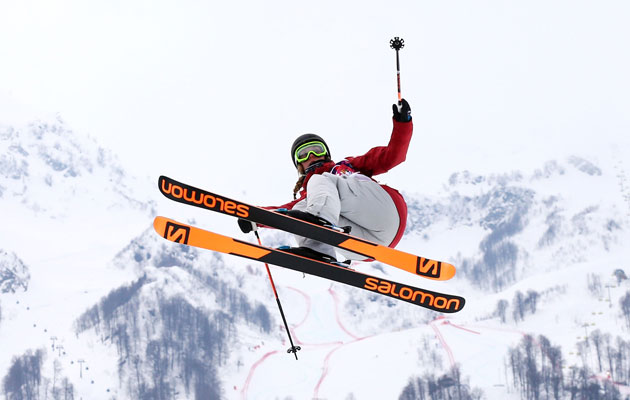 Dara Howell soars through the air on her way to gold. (Getty Images)