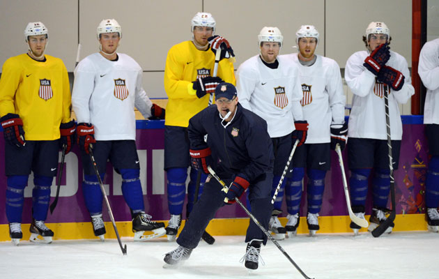 Dan Bylsma's American squad will finally take to the ice. (Getty Images)