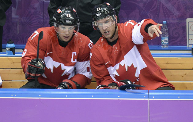 Sidney Crosby and Jeff Carter detail what they want to do. (Getty Images)