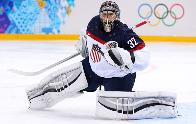 Jonathan Quick saved 21 of 22 shots against Slovakia. (Getty Images)