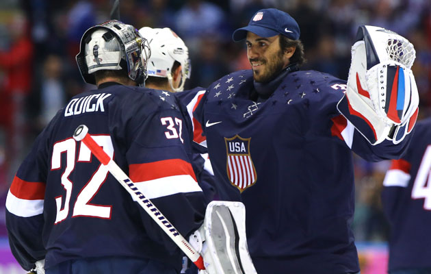 Ryan Miller will face the Slovenians on Sunday. (Getty Images)