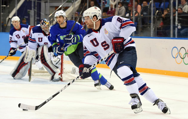 Phil Kessel\'s natural hat trick paces USA to 5-1 win over Slovenia ...
