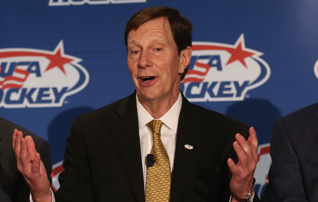 David Poile was unable to join Team USA in Russia. (Getty Images)