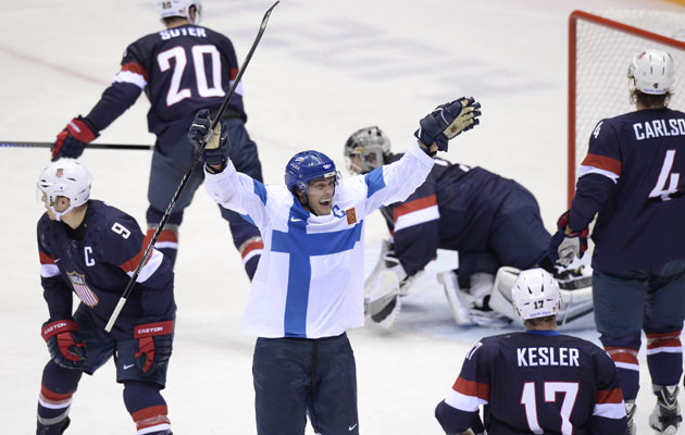 Finland and the USA battle it out for bronze. (Getty Images)
