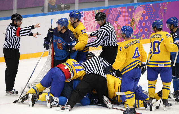 Sweden's game vs. Canada will have officials with Canadian ties. (Getty Images)
