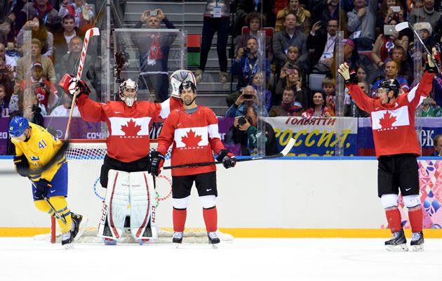 Canada wins gold again. (Getty Images)