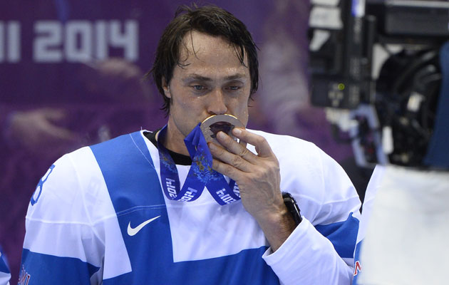 Teemu Selanne is Sochi's MVP. (Getty Images)