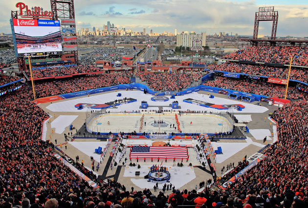 The scene in Philadelphia for the 2012 Winter Classic. (Getty Images)